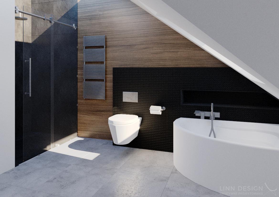 łazienki Biało Szaro Drewniane